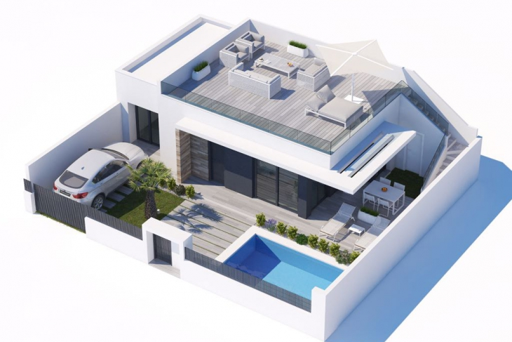 Groundfloor villa for sale on vistabella golfcourse