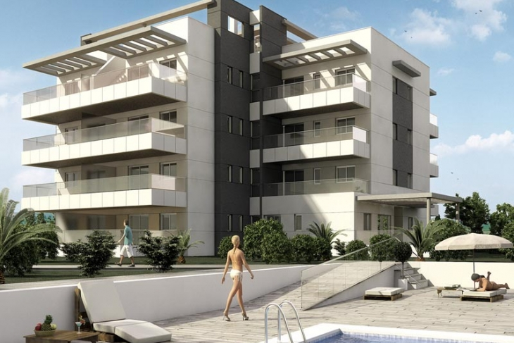 New build modern properties at Villamartin