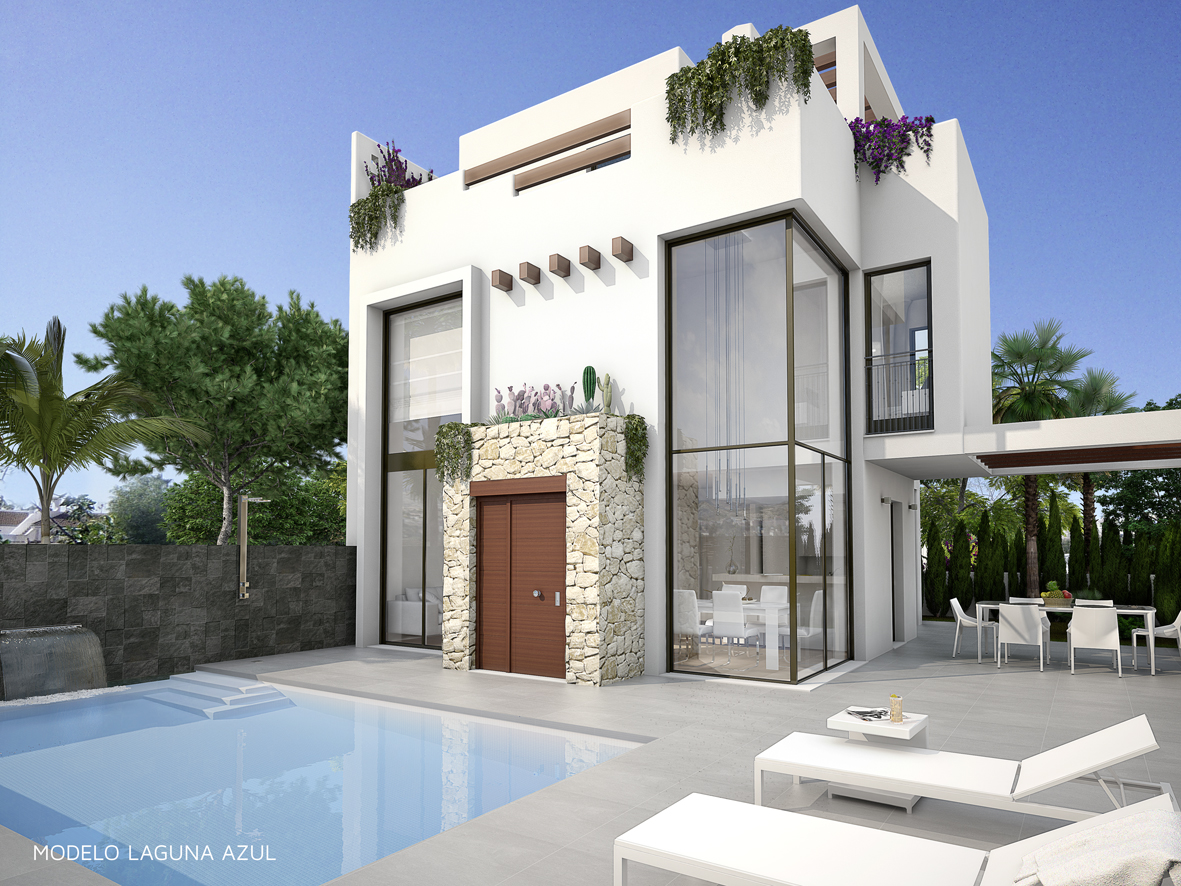 Villa avec piscine privee a vendre a ciudad quesada for Villas la magdalena 4